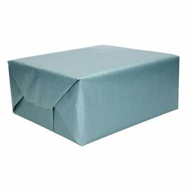Kraft geschenkpapier zeeblauw 70 x 200 cm