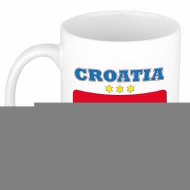 Kroatische vlag theebeker 300 ml