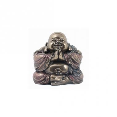 Lachende boeddha beeldje 11 cm