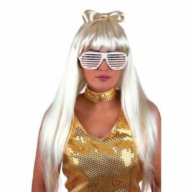 Lady gaga pruiken blond haar
