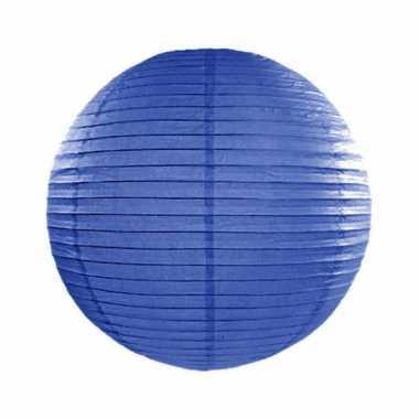 Lampion 25 cm donker blauw