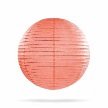 Lampion 25 cm zalm roze
