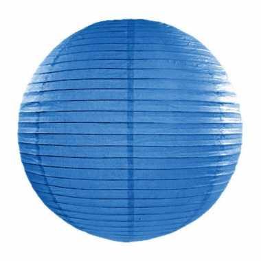 Lampion 35 cm blauw