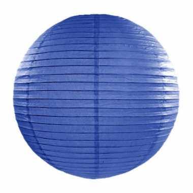 Lampion 35 cm donker blauw