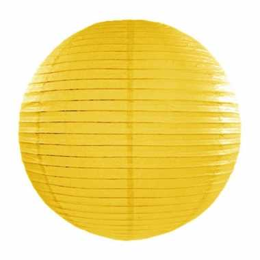 Lampion 35 cm geel