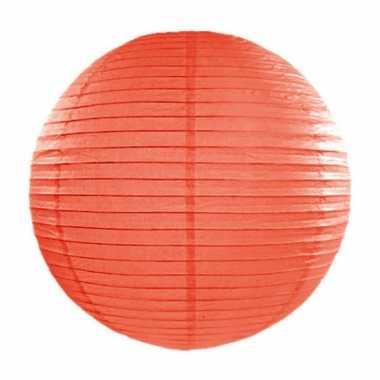 Lampion 35 cm oranje