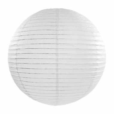 Lampion 35 cm wit