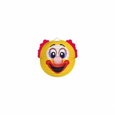 Lampion gele clown 20 cm