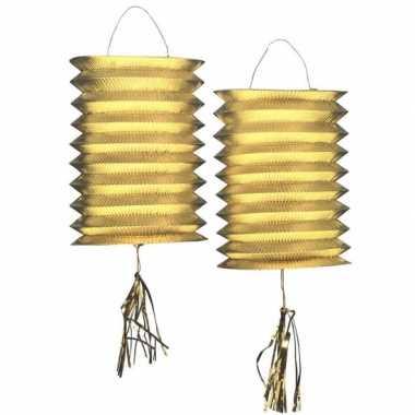 Lampion goud 2 stuks 25 cm