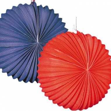 Lampionnetjes 4 stuks rood/blauw