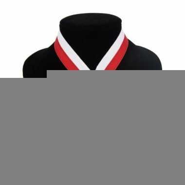 Landen lint kampioensmedaille wit en rood