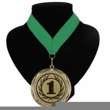 Landen lint nr. 1 medaille groen