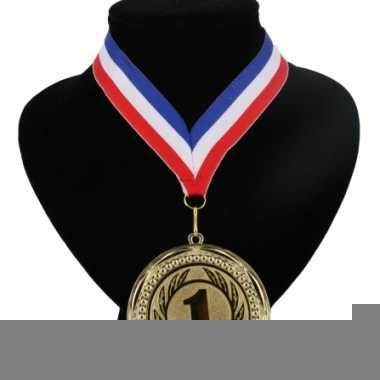 Landen lint nr. 1 medaille rood wit blauw