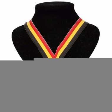 Landen lint nr. 2 medaille geel/rood/zwart
