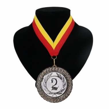 Landen lint nr. 2 medaille rood geel