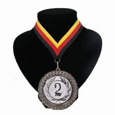 Landen lint nr. 2 medaille rood geel zwart