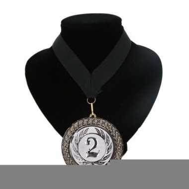 Landen lint nr. 2 medaille zwart