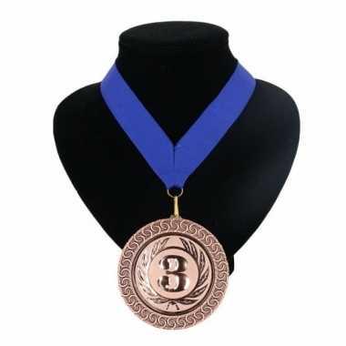 Landen lint nr. 3 medaille blauw