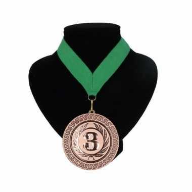 Landen lint nr. 3 medaille groen