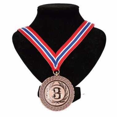 Landen lint nr. 3 medaille rood/wit/blauw