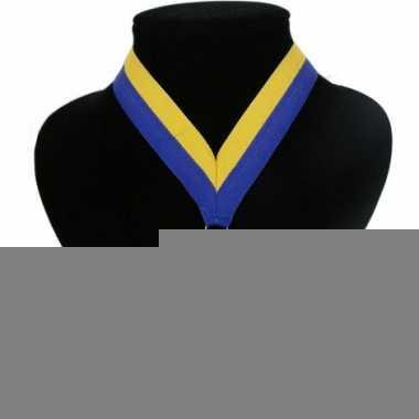 Landen lint voor medaille blauw geel