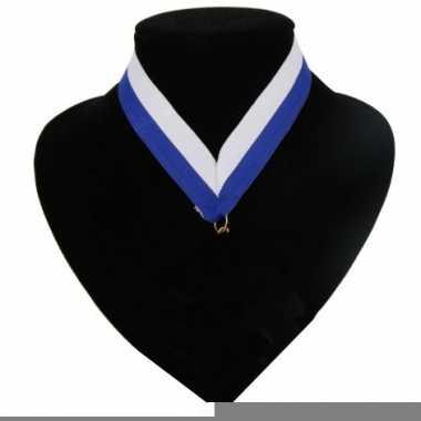 Landen lint voor medaille blauw wit