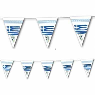 Landen thema versiering griekenland vlaggenlijn 3,5 meter