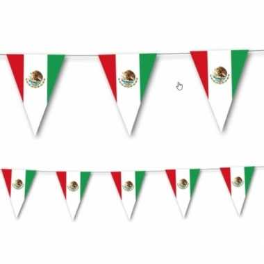 Landen thema versiering mexico vlaggenlijn 3,5 meter