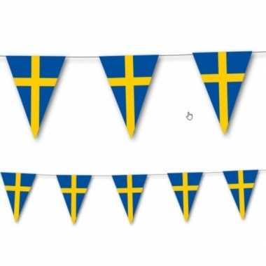 Landen thema versiering zweden vlaggenlijn 3,5 meter