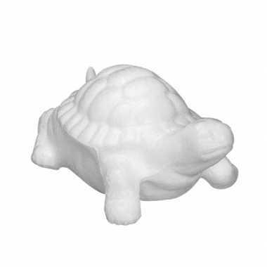 Landschildpad van piepschuim materiaal 23 cm