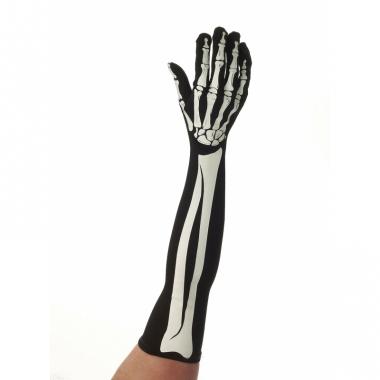 Lange horror skelet handschoenen