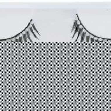 Lange nep-wimpers zwart met strass