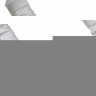 Lange witte handschoenen