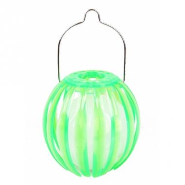 Lantaarn op zonne energie groen 11 cm