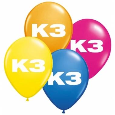 Latex k3 ballonnen 8 stuks