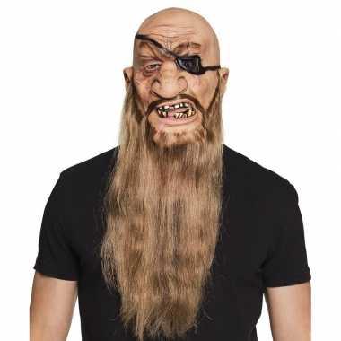 Latex piraten masker voor volwassenen