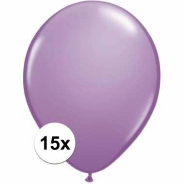 Lavendel decoratie ballonnen 15 stuks