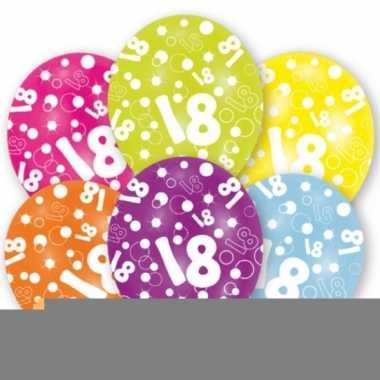Leeftijd ballonnen 18 jaar 6 stuks