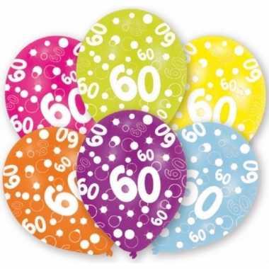 Leeftijd ballonnen 60 jaar 6 stuks