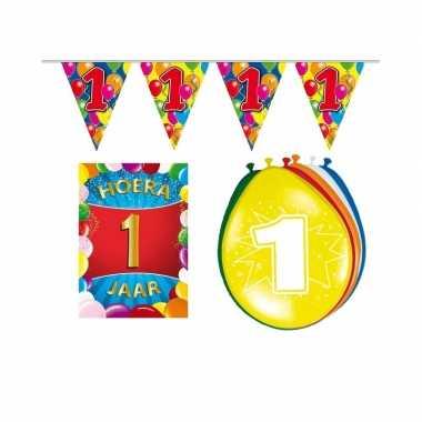 Leeftijd feestartikelen 1 jaar voordeel pakket