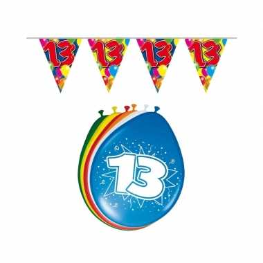 Leeftijd feestartikelen 13 jaar setje