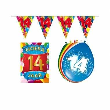 Leeftijd feestartikelen 14 jaar voordeel pakket