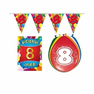 Leeftijd feestartikelen 8 jaar voordeel pakket