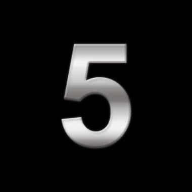 Leeftijd stickers cijfer 5