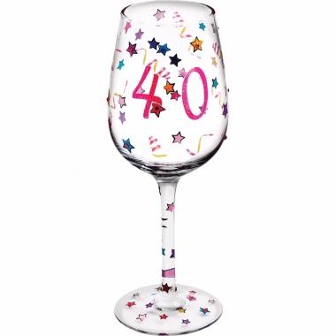 Leeftijd wijnglas 40 jaar 22 cm