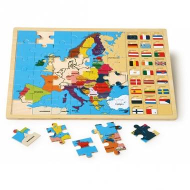 Leerzame puzzel europa voor kinderen