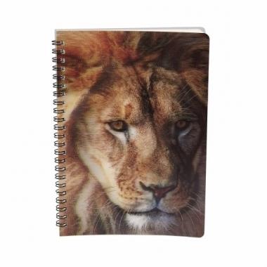 Leeuw notitieboek 3d 21cm