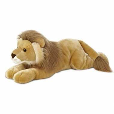 Leeuwen speelgoed artikelen leeuw knuffelbeest bruin 70 cm
