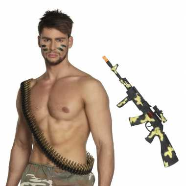 Leger accessoires verkleedset kogelriem en geweer