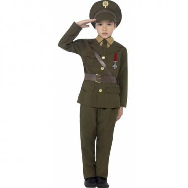 Leger officier verkleed outfit voor kids